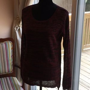 DKNY Black and Red Shirt/Sweater